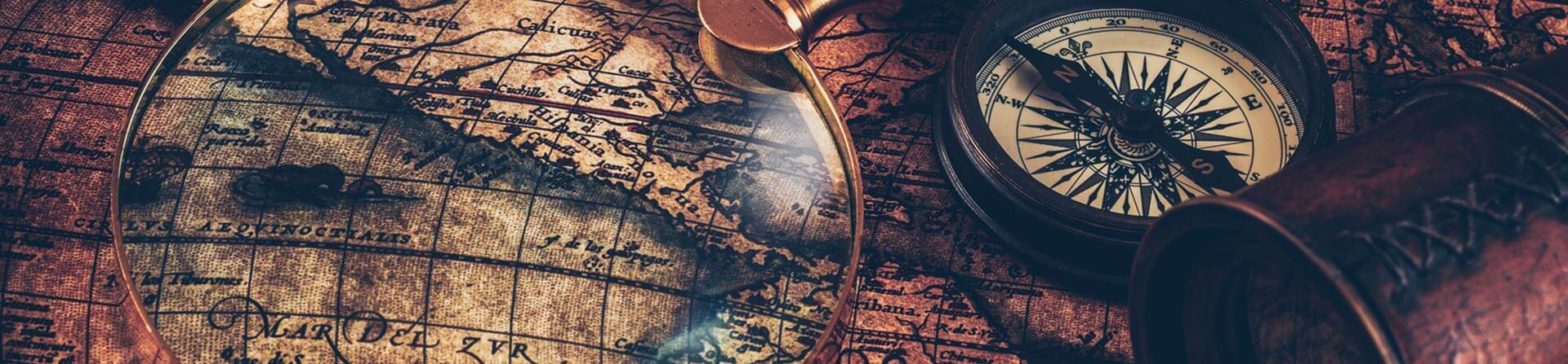 mappa con lente