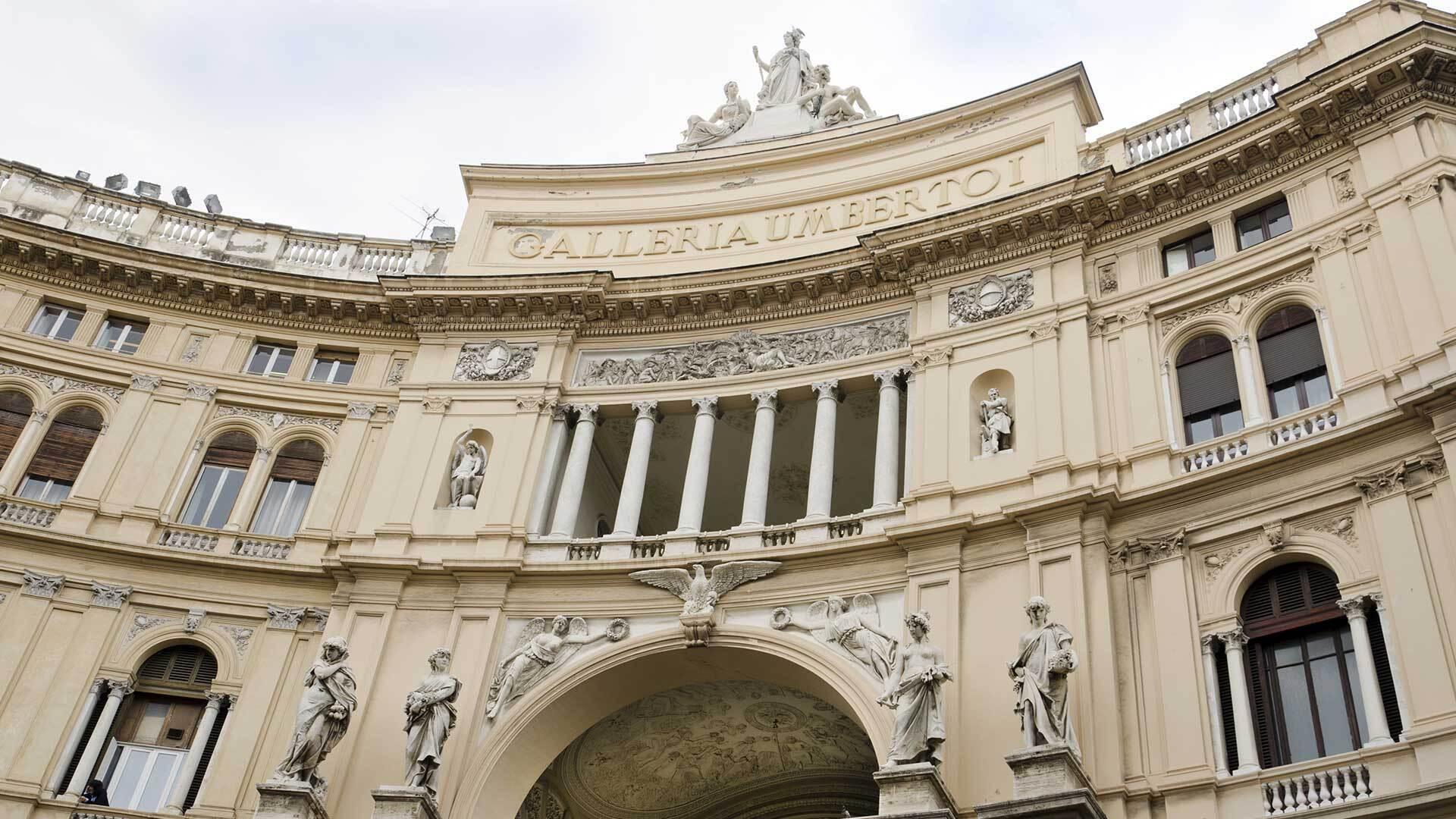 L'artistica Galleria Umberto I di Napoli