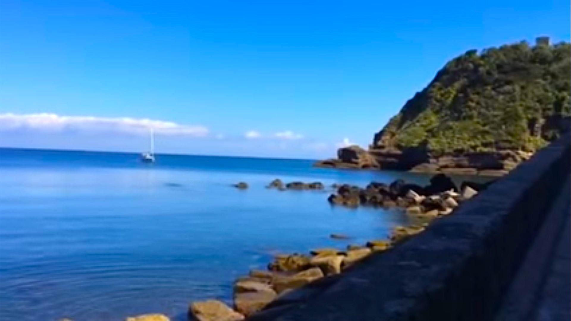 La bella spiaggia del Postino a Procida