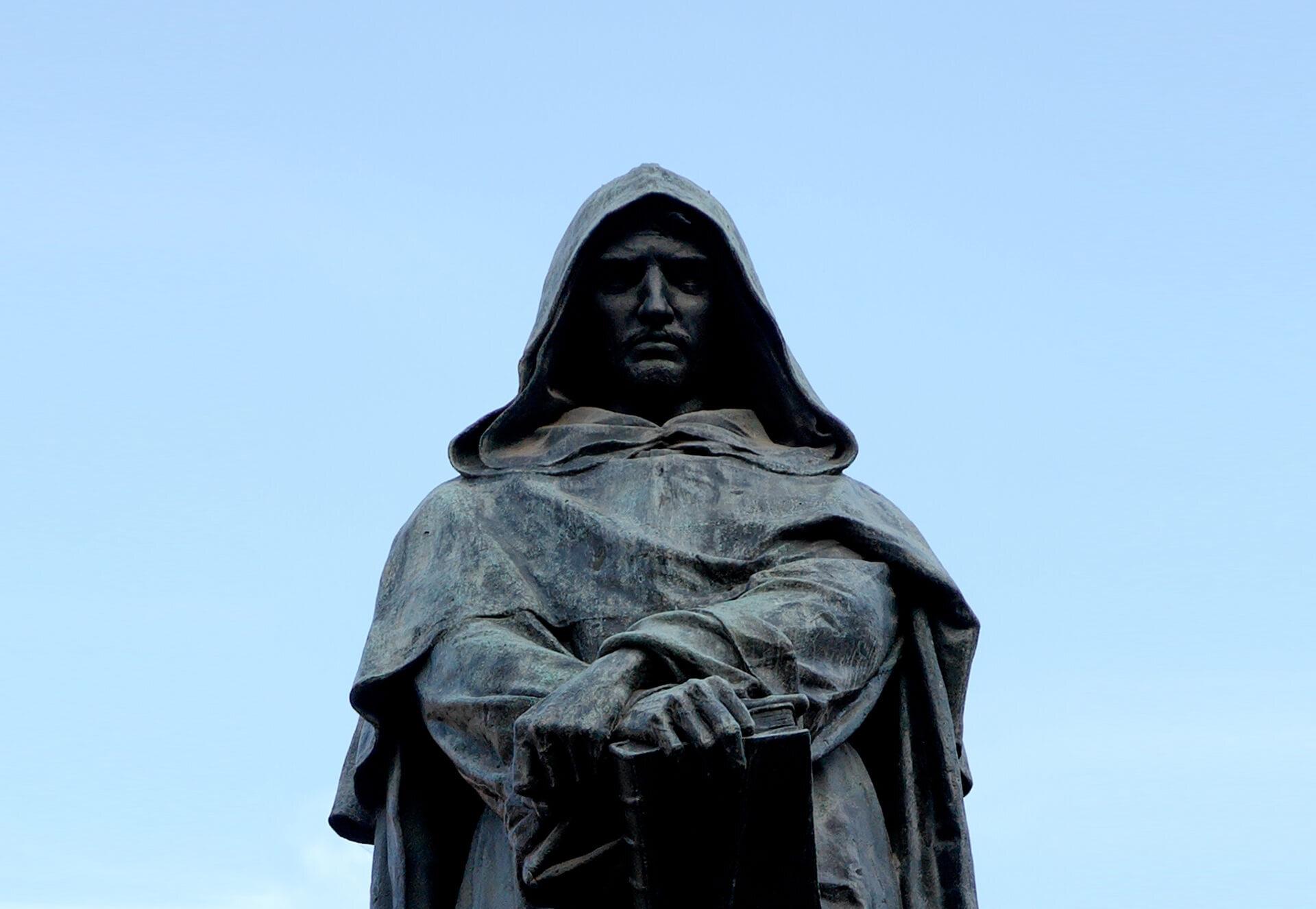 Statua del filosofo Giordano Bruno